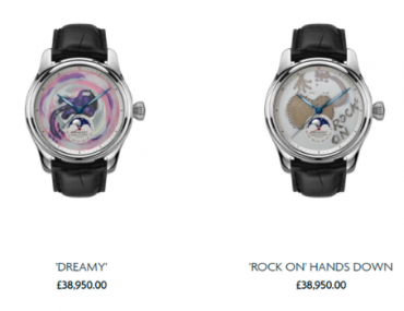 hand painted watches by ronnie