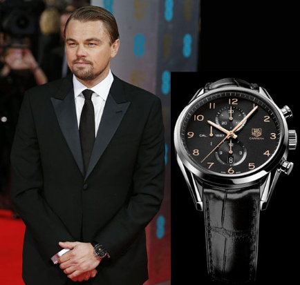 Leonardodicaprio wears tagheur for Celebrity watch brand male