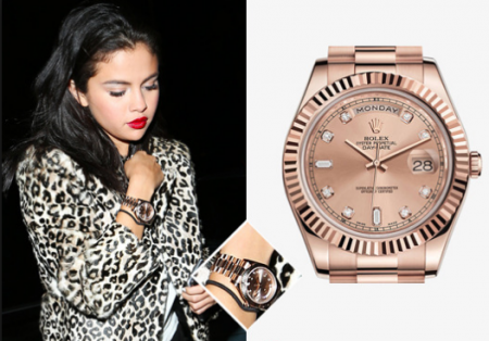 Selena gomez rolex daytona for Celebrity wearing rolex watches