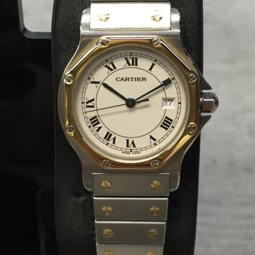 e5abf917e97 Cartier Ladies Santos Octagon Steel and gold for sale for  1